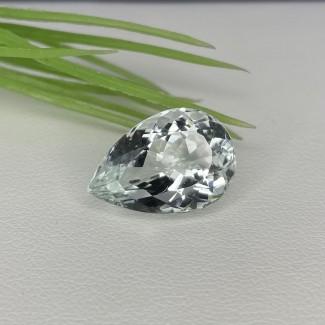 7.28 Cts. Aquamarine 16x11mm Regular Cut Pear Shape Loose Gemstone - SKU:157715