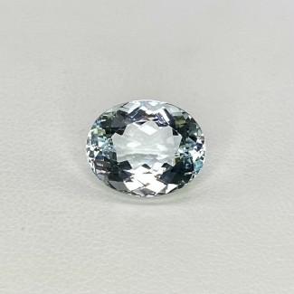 5.41 Cts. Aquamarine 13x10.5mm Regular Cut Oval Shape Loose Gemstone - SKU:157713