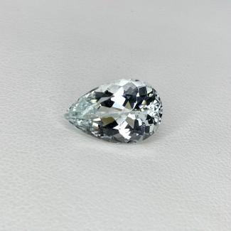 4.69 Cts. Aquamarine 14.5X9.5mm Regular Cut Pear Shape Loose Gemstone - SKU:157778