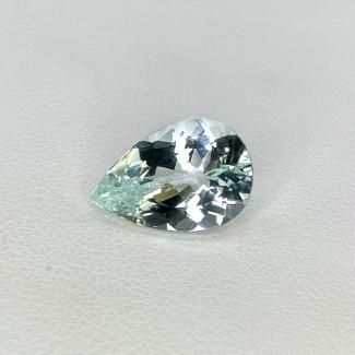 5.42 Cts. Aquamarine 15x10mm Regular Cut Pear Shape Loose Gemstone - SKU:157774