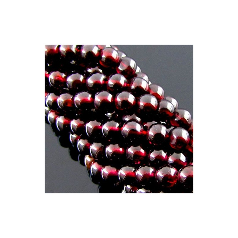 Garnet 6-6.5mm Smooth Round Shape Beads Strand