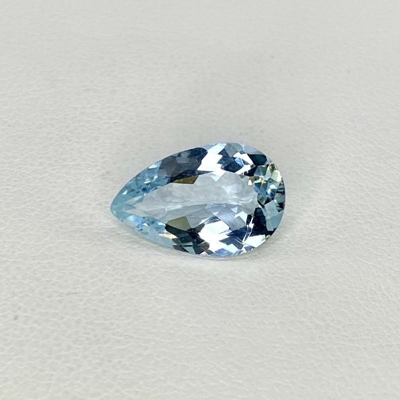 3.52 Cts. Aquamarine 14x9mm Regular Cut Pear Shape Loose Gemstone - SKU:157775