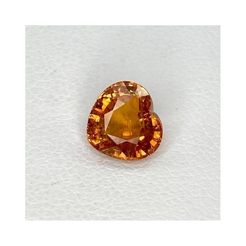 1.99 Cts. Spessartite Garnet 7.04mm Regular Cut Heart Shape Loose Gemstone - SKU:157572
