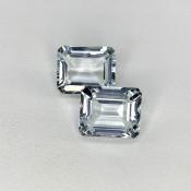 11.69 Cts. Aquamarine 12x10mm Step Cut Octagon Shape Matched Gems Pair - Total 2 Pcs. - SKU:157790
