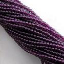 Garnet 3-3.5mm Smooth Round Shape Beads Strand