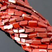 Red Jasper 10-12mm Smooth Bricks Shape Beads Strand