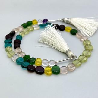 Multi Stones 6.5-9mm Smooth Mixed Shapes Shape 14 Inch Long Gemstone Beads Strand - SKU:157802