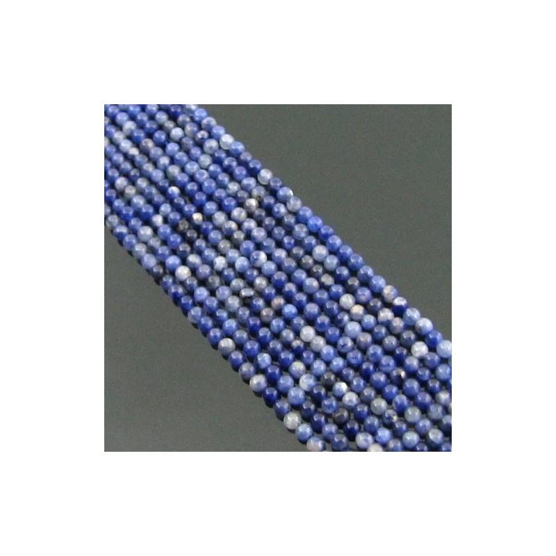 Sodalite 2-2.5mm Smooth Round Shape Beads Strand