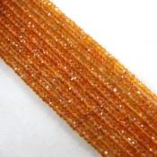 Spessartite Garnet 3-3.5mm Faceted Rondelle Shape Beads Strand