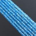 Sky-Blue Topaz 4-4.5mm Faceted Rondelle Shape Beads Strand