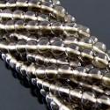 Smoky Quartz 5-5.5mm Smooth Round Shape Beads Strand