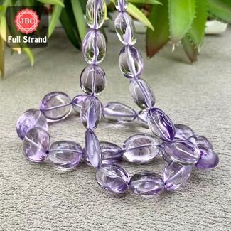 Brazilian Amethyst 12-20mm Smooth Nuggets Shape 16 Inch Long Gemstone Beads Strand - SKU:158087