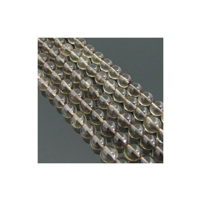 Smoky Quartz 4-4.5mm Smooth Round Shape Beads Strand