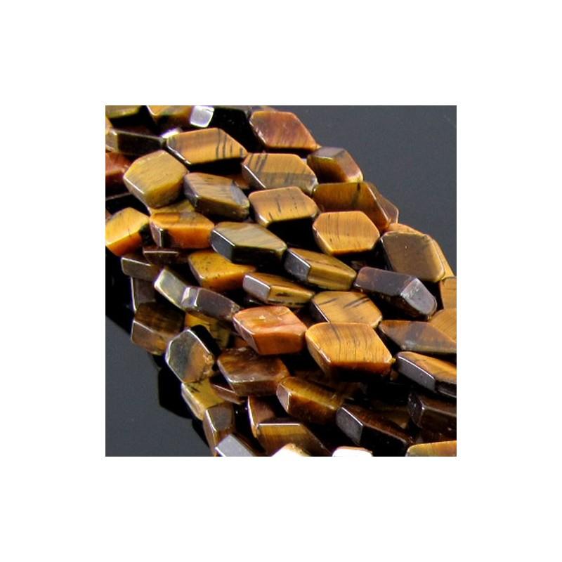 Tiger Eye 10-12mm Smooth Diamond Shape Beads Strand