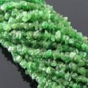 Tsavorite 4-5mm Tumbeled Chips Shape Beads Strand