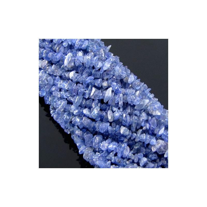 Tanzanite 5-6mm Tumbeled Chips Shape Beads Strand