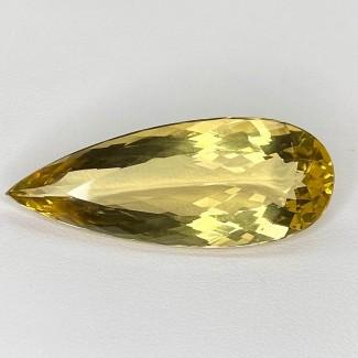28.95 Cts. Yellow Beryl 30x15mm Regular Cut Pear Shape Loose Gemstone - SKU:158232