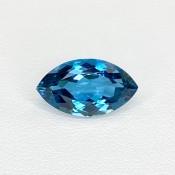 6.91 Cts. London-Blue Topaz 9x15.88mm Regular Cut Marquise Shape Loose Gemstone - SKU:158200