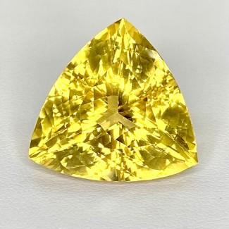 31.35 Cts. Yellow Beryl 22mm Regular Cut Trillion Shape Loose Gemstone - SKU:158231
