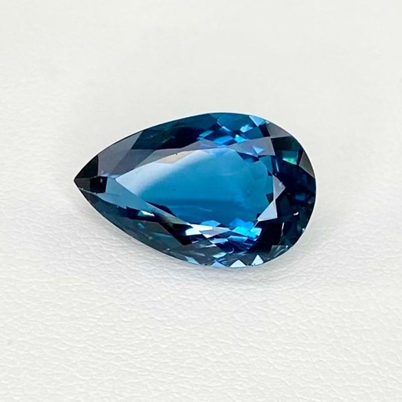 8.32 Cts. London-Blue Topaz 17x10mm Regular Cut Pear Shape Loose Gemstone - SKU:158204
