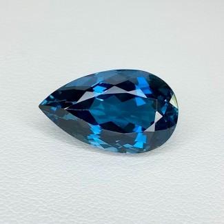 9.65 Cts. London-Blue Topaz 17x10mm Regular Cut Pear Shape Loose Gemstone - SKU:158197