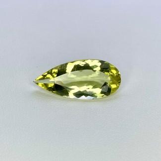 6.15 Cts. Green Beryl 22x10mm Regular Cut Pear Shape Loose Gemstone - SKU:158156