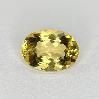 7.00 Cts. Yellow Beryl 15x11mm Regular Cut Oval Shape Loose Gemstone - SKU:158235