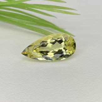 6.50 Cts. Green Beryl 19x9.5mm Regular Cut Pear Shape Loose Gemstone - SKU:158316