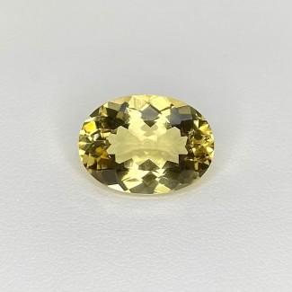 9.25 Cts. Yellow Beryl 17x12mm Regular Cut Oval Shape Loose Gemstone - SKU:158239