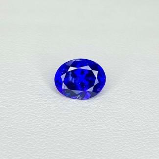 2.36 Cts. Tanzanite 9.21x7.28mm Regular Cut Oval Shape Loose Gemstone - SKU:158213