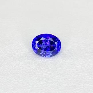 2.50 Cts. Tanzanite 9x7.10mm Regular Cut Oval Shape Loose Gemstone - SKU:158214