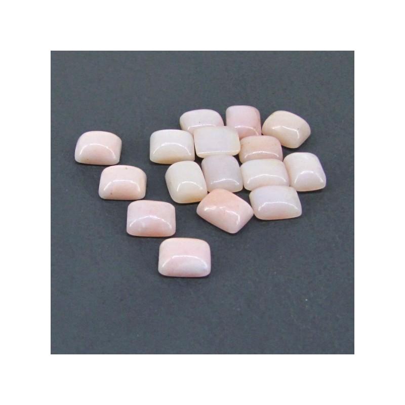 44.80 Cts. Pink Opal 10x8mm Cushion Shape Cabochon Parcel (16 Pcs.)