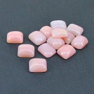 34 Cts. Pink Opal 10x8mm Cushion Shape Cabochon Parcel (13 Pcs.)