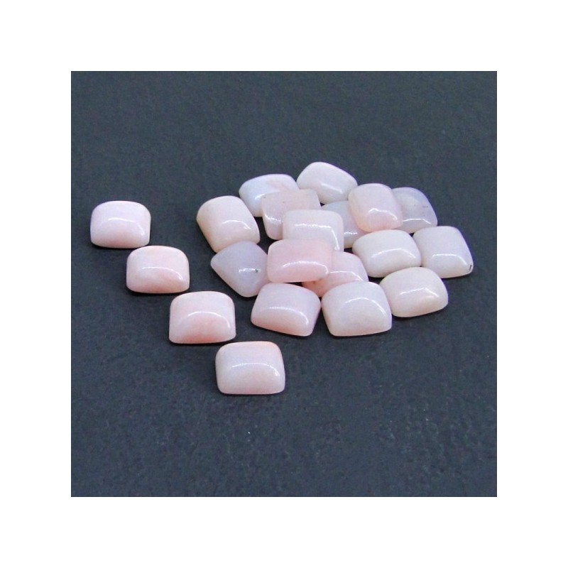 75.60 Cts. Pink Opal 11x9mm Cushion Shape Cabochon Parcel (20 Pcs.)