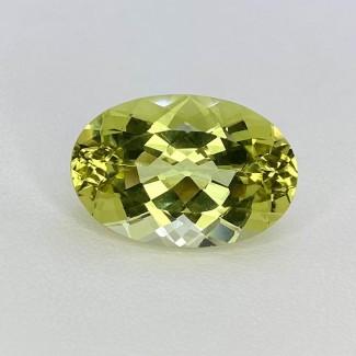 14.85 Cts. Green Beryl 20.63x13.89mm Regular Cut Oval Shape Loose Gemstone - SKU:158152