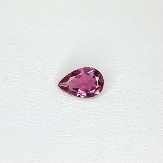 1.17 Cts. Pink Tourmaline 9x6mm Regular Cut Pear Shape Loose Gemstone - SKU:157886