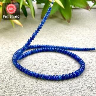 Blue Sapphire 3.5-5.5mm Smooth Rondelle Shape 15 Inch Long Gemstone Beads Strand - SKU:158139