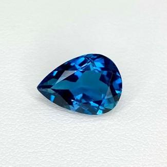 4.36 Cts. London-Blue Topaz 12x9mm Regular Cut Pear Shape Loose Gemstone - SKU:158211