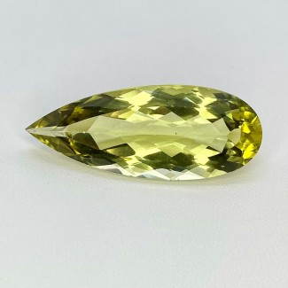 23.65 Cts. Green Beryl 36x14.5mm Regular Cut Pear Shape Loose Gemstone - SKU:158206