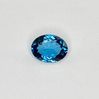 5.72 Cts. London-Blue Topaz 13x10mm Regular Cut Oval Shape Loose Gemstone - SKU:158209