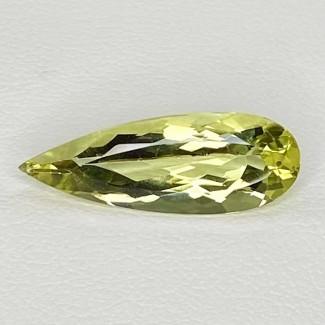 3.85 Cts. Green Beryl 20x7mm Regular Cut Pear Shape Loose Gemstone - SKU:158296