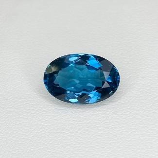 6.51 Cts. London-Blue Topaz 8.98x13.56mm Regular Cut Oval Shape Loose Gemstone - SKU:158208