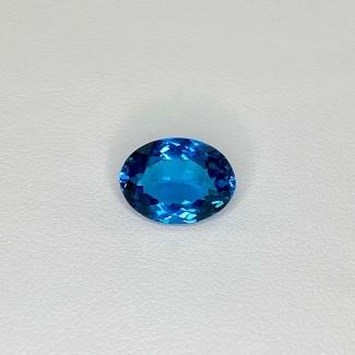 6.71 Cts. London-Blue Topaz 14X10mm Regular Cut Oval Shape Loose Gemstone - SKU:158210
