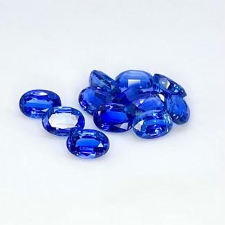 7.90 Cts. Kyanite 6x4mm Regular Cut Oval Shape Loose Gemstone - Total 12 Pcs. - SKU:158323
