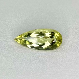 4.40 Cts. Green Beryl 18.5x8mm Regular Cut Pear Shape Loose Gemstone - SKU:158285