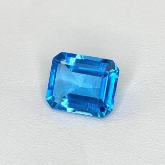 6.59 Cts. Swiss-Blue Topaz 12x10mm Step Cut Octagon Shape Loose Gemstone - SKU:158360