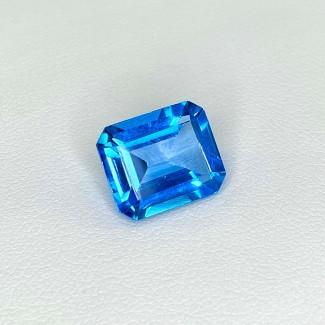 6.74 Cts. Swiss-Blue Topaz 12x10mm Step Cut Octagon Shape Loose Gemstone - SKU:158364