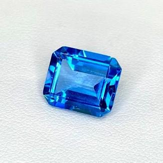 6.99 Cts. Swiss-Blue Topaz 12x10mm Step Cut Octagon Shape Loose Gemstone - SKU:158363