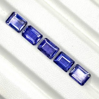6.70 Cts. Iolite 8x6mm Step Cut Octagon Shape Loose Gemstone - Total 5 Pcs. - SKU:158413