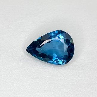 7.74 Cts. London-Blue Topaz 15x11mm Regular Cut Pear Shape Loose Gemstone - SKU:158176